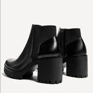 Zara track sole chelsea boots